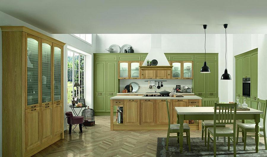 Modello di cucina classica con isola centrale di Colombini Casa n.03