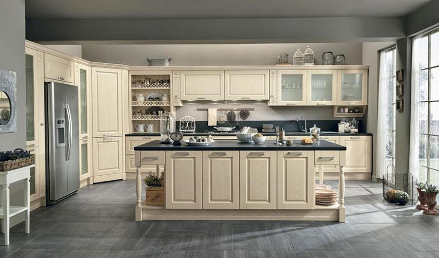 Modello di cucina classica con isola centrale di Colombini Casa n.05