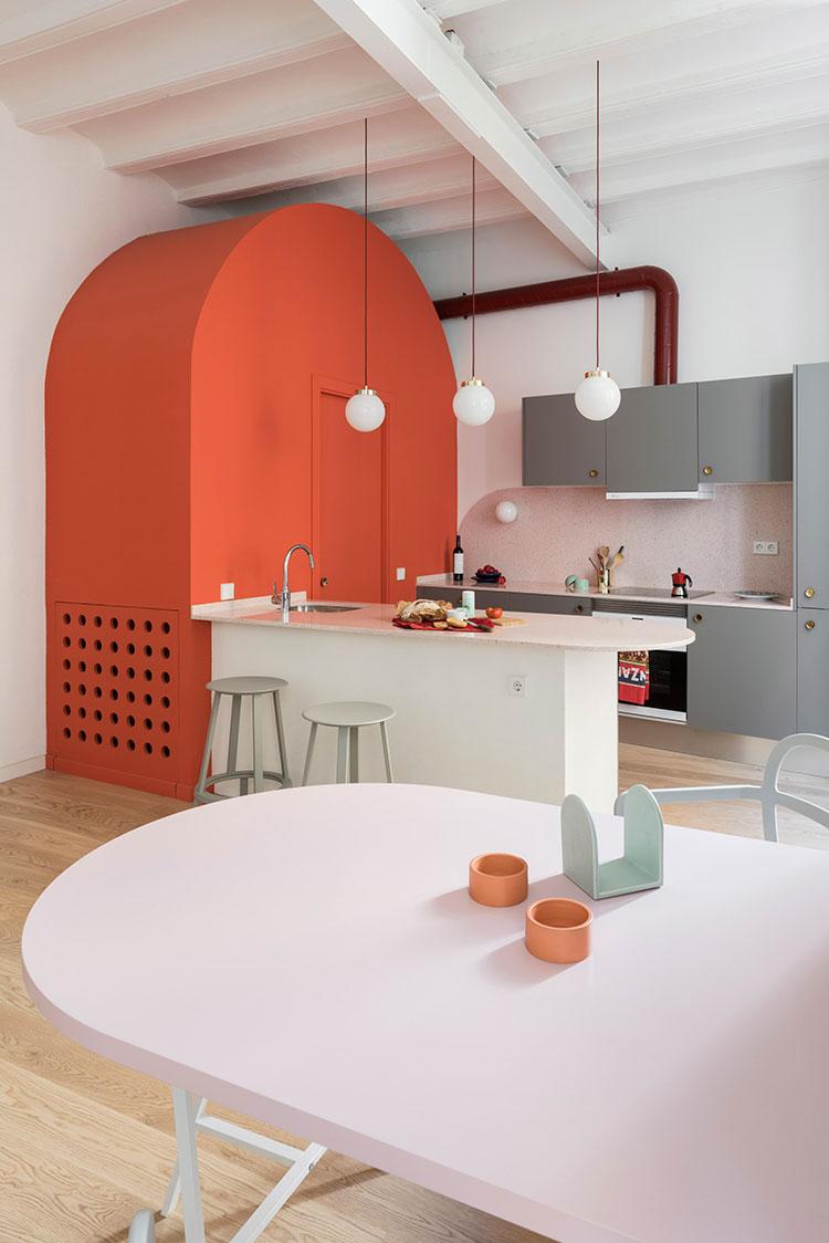 Idee cucina living coral n.1