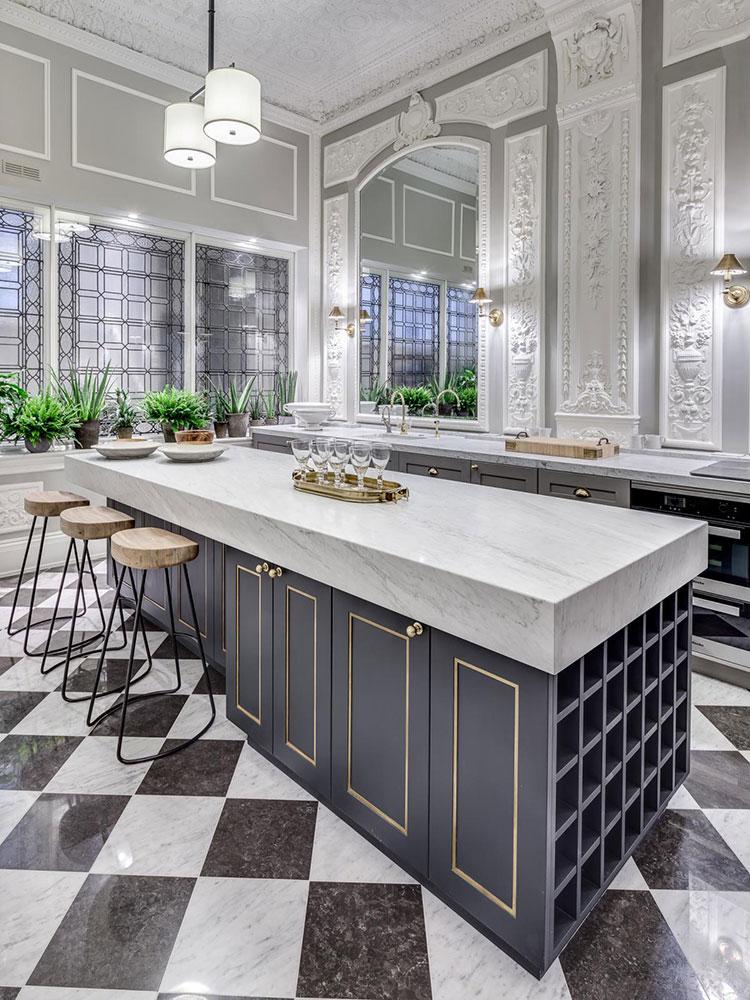 Progetto per cucina di lusso classica n.03