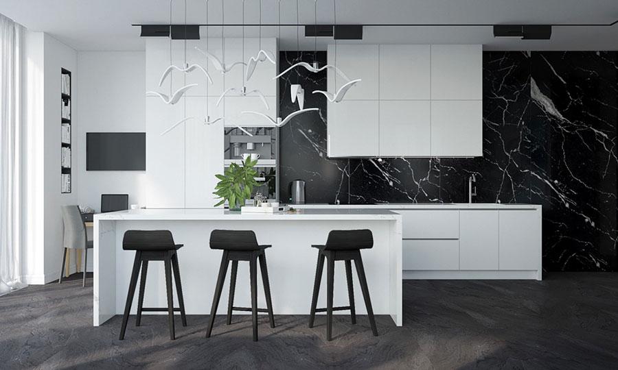 Progetto per cucina di lusso moderna n.01