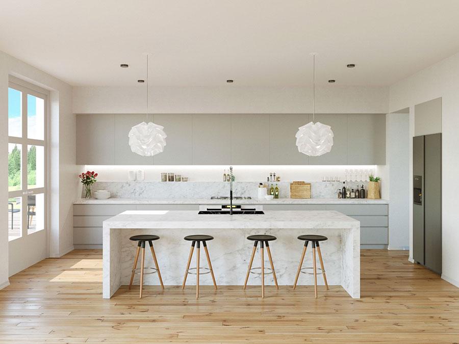 Progetto per cucina di lusso moderna n.02