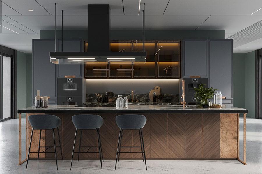 Progetto per cucina di lusso moderna n.04