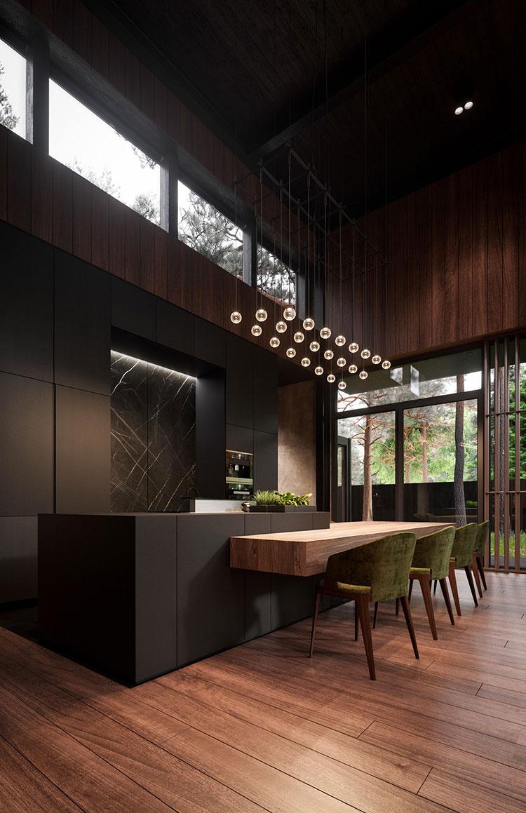 Progetto per cucina di lusso moderna n.05