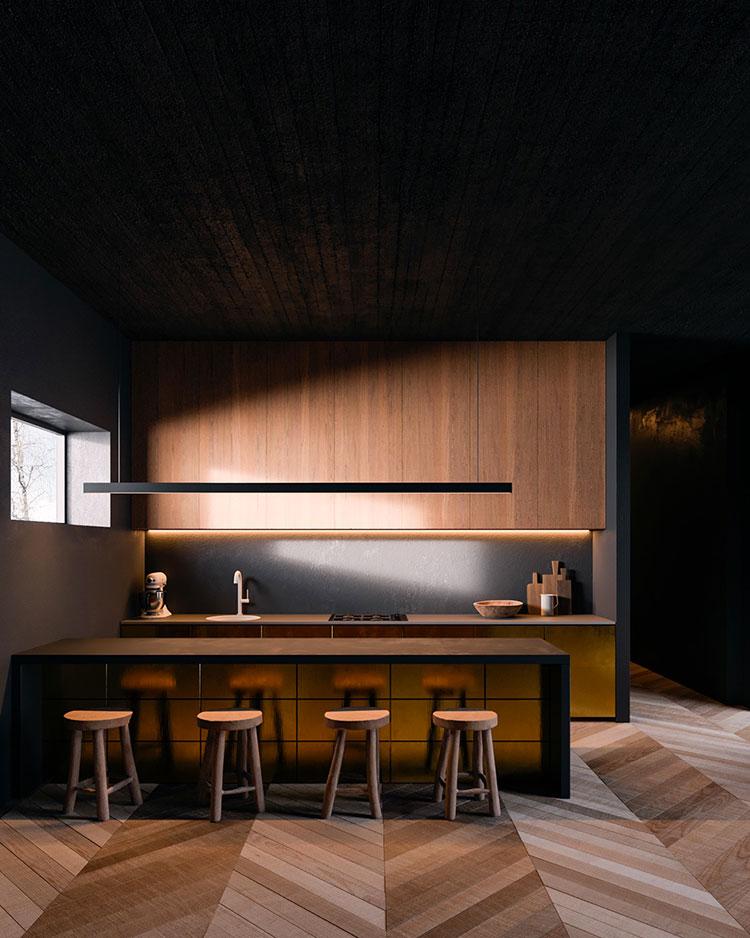 Progetto per cucina di lusso moderna n.06