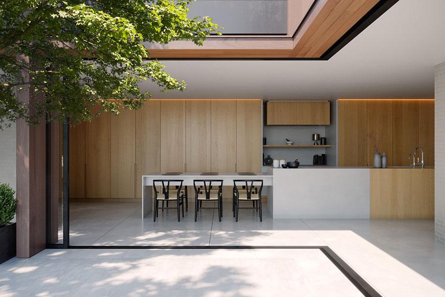 Progetto per cucina di lusso moderna n.07