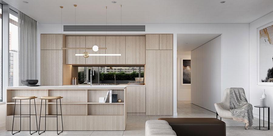 Progetto per cucina di lusso moderna n.09