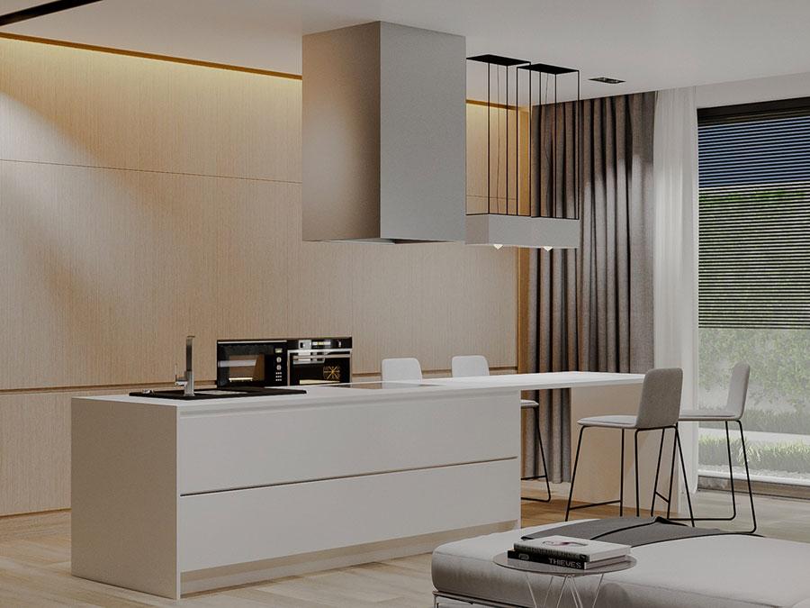 Progetto per cucina di lusso moderna n.10