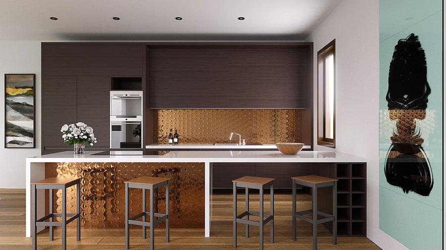 Progetto per cucina di lusso moderna n.17