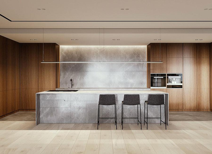 Progetto per cucina di lusso moderna n.18
