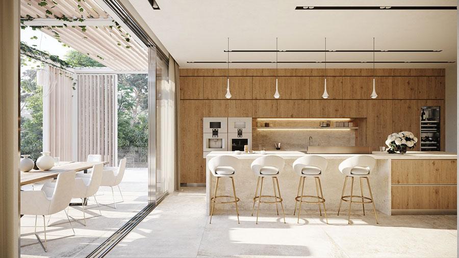 Progetto per cucina di lusso moderna n.19