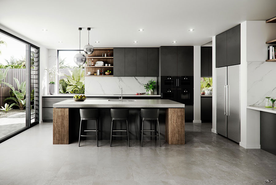 Progetto per cucina di lusso moderna n.20