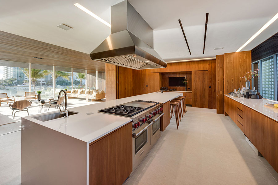 Progetto per cucina di lusso moderna n.21