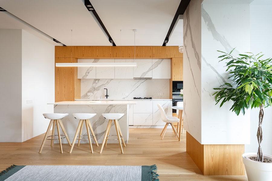Progetto per cucina di lusso moderna n.22