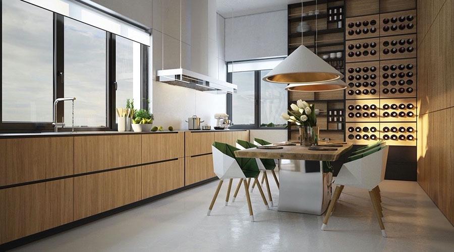 Progetto per cucina di lusso moderna n.24
