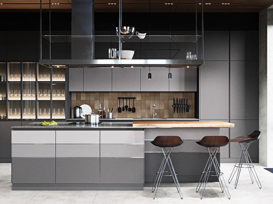 Progetto per cucina di lusso moderna n.25