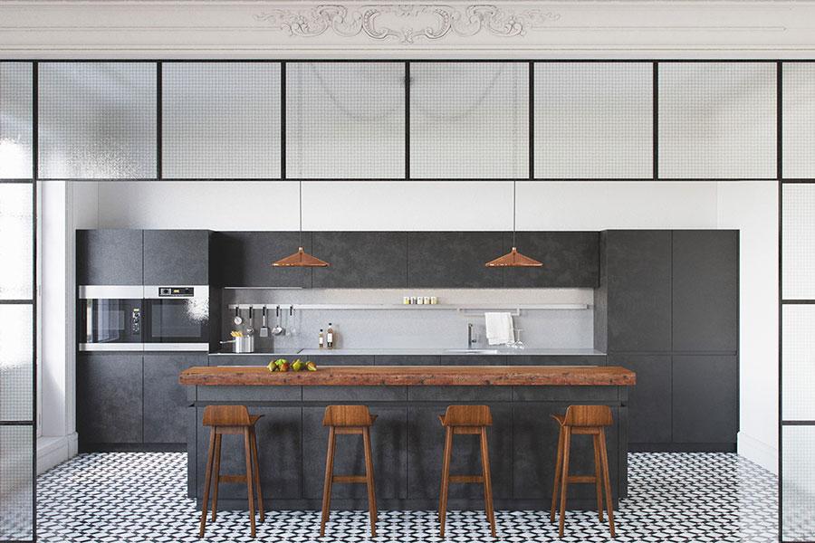 Progetto per cucina di lusso moderna n.26