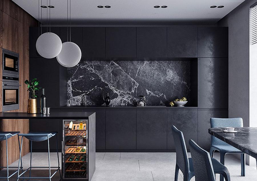 Progetto per cucina di lusso moderna n.27