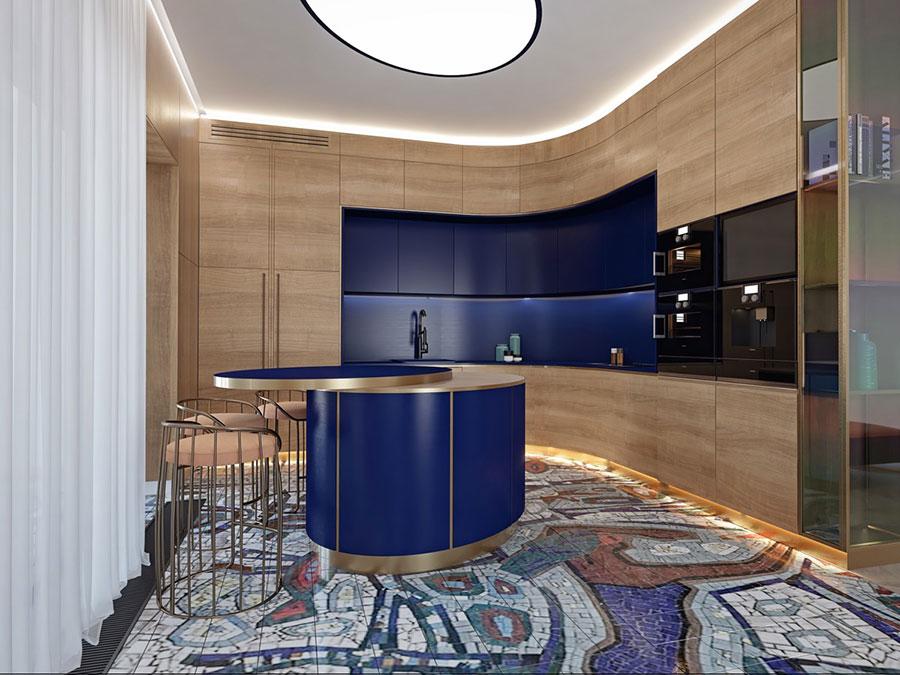 Progetto per cucina di lusso moderna n.28