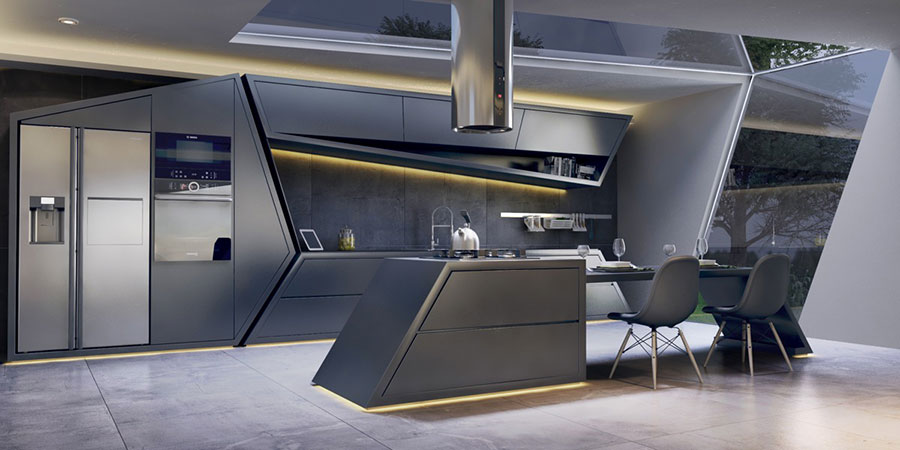 Progetto per cucina di lusso moderna n.30