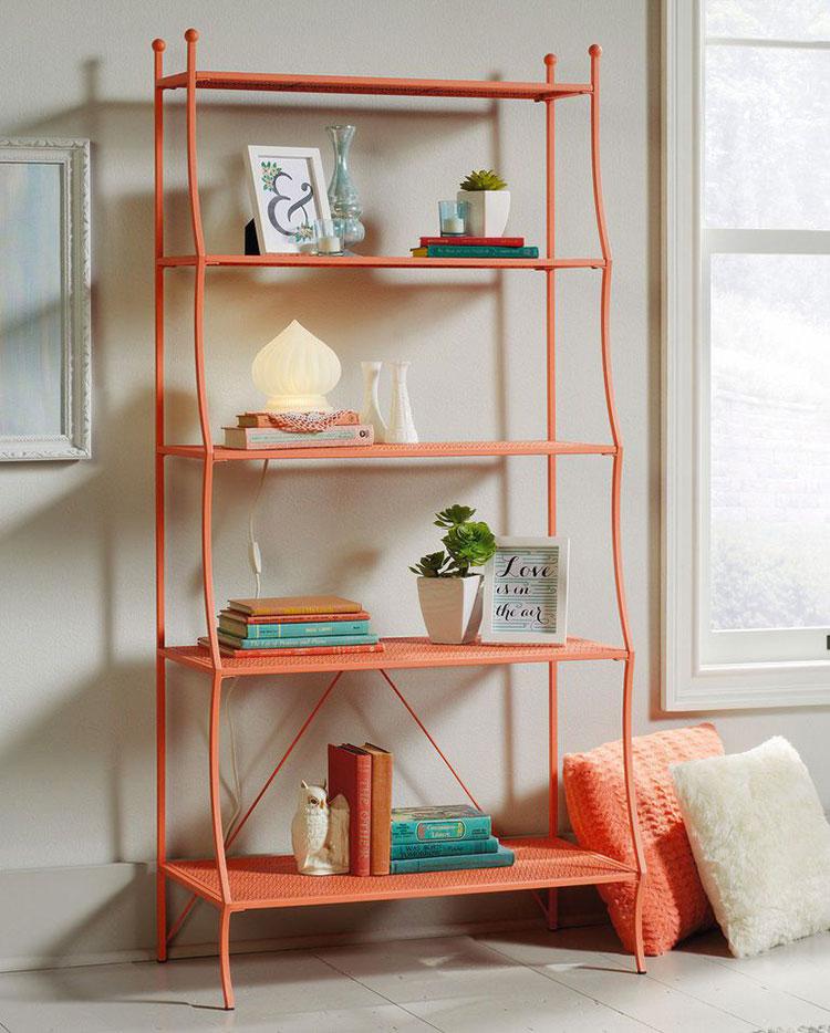 Idee libreria living coral
