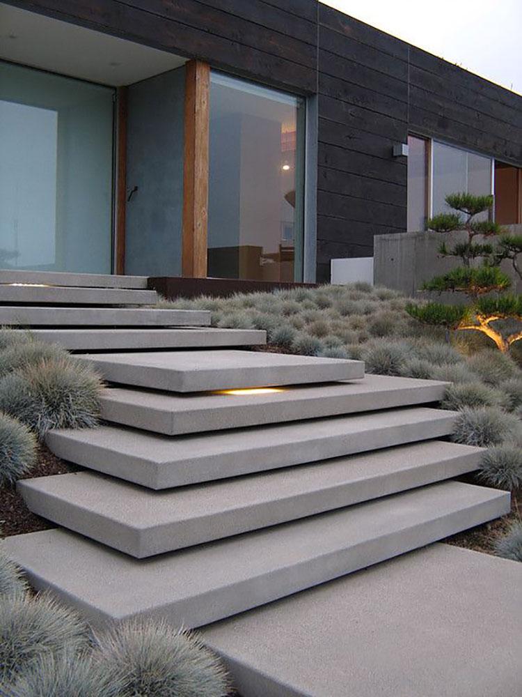 Modello di scala esterna moderna in cemento n.01