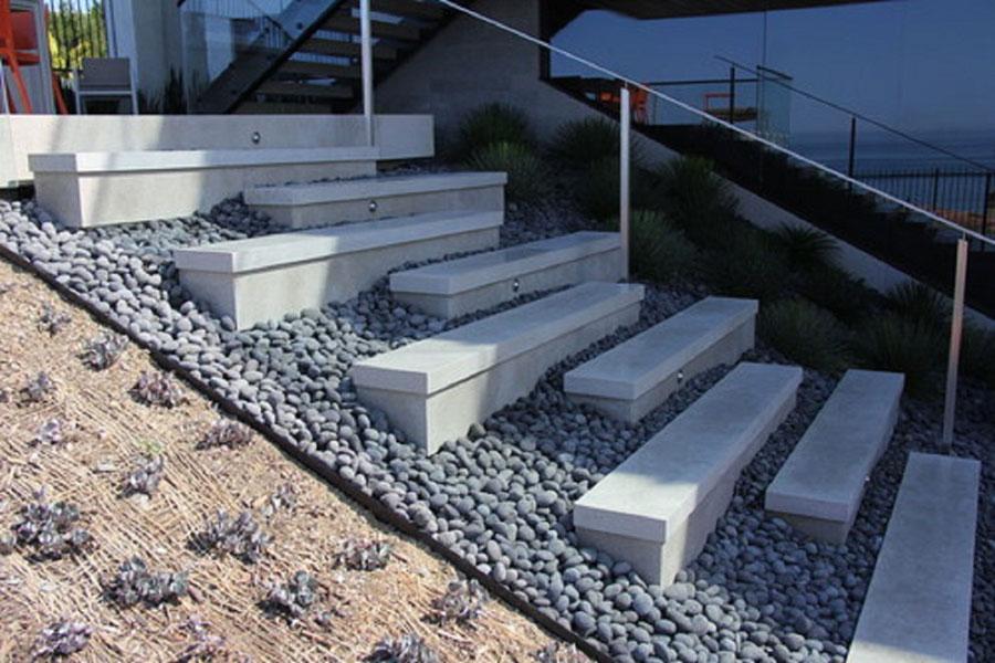 Modello di scala esterna moderna in cemento n.10