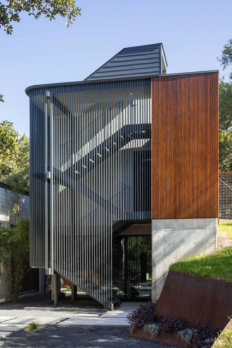 Modello di scala esterna per villa moderna n.06