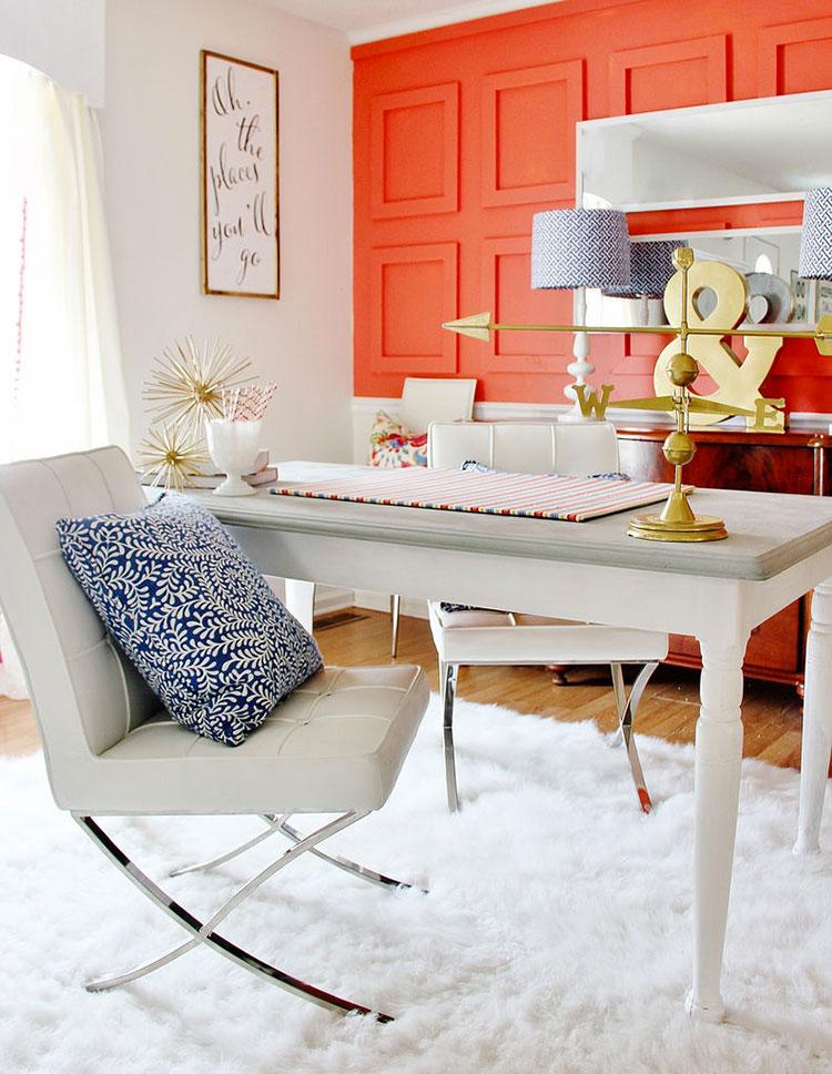 Idee per arredare casa con il living coral colore pantone for Arredare il living