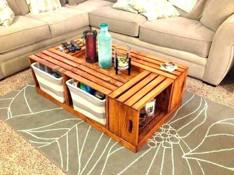 Modello di tavolino fai da te con cassette n.3