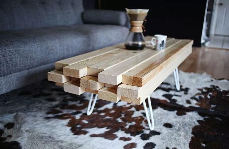 Modello di tavolino fai da te in legno n.01