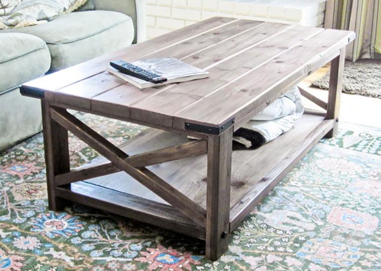 Modello di tavolino fai da te in legno n.02