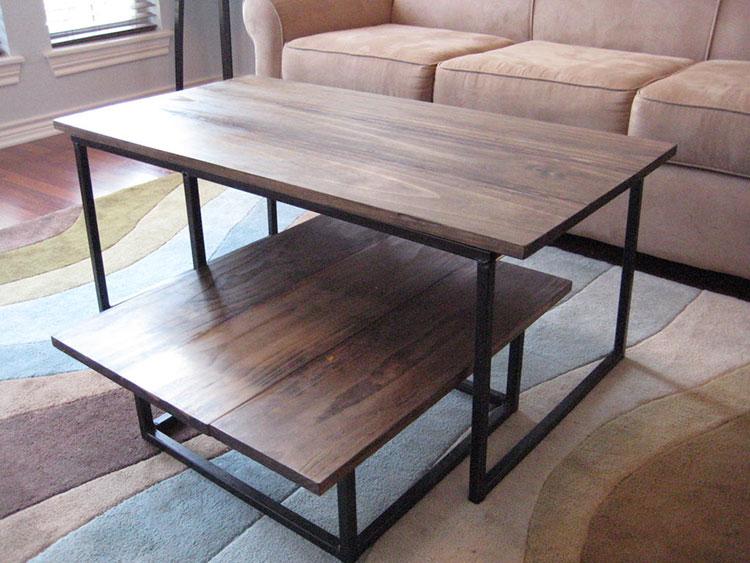 Modello di tavolino fai da te in legno n.03