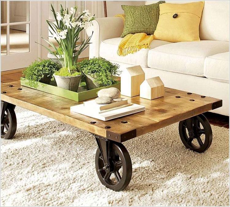 Modello di tavolino fai da te con ruote n.3