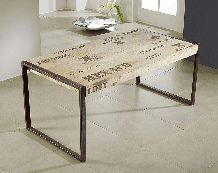 Modello di tavolo industrial di Amazon n.8