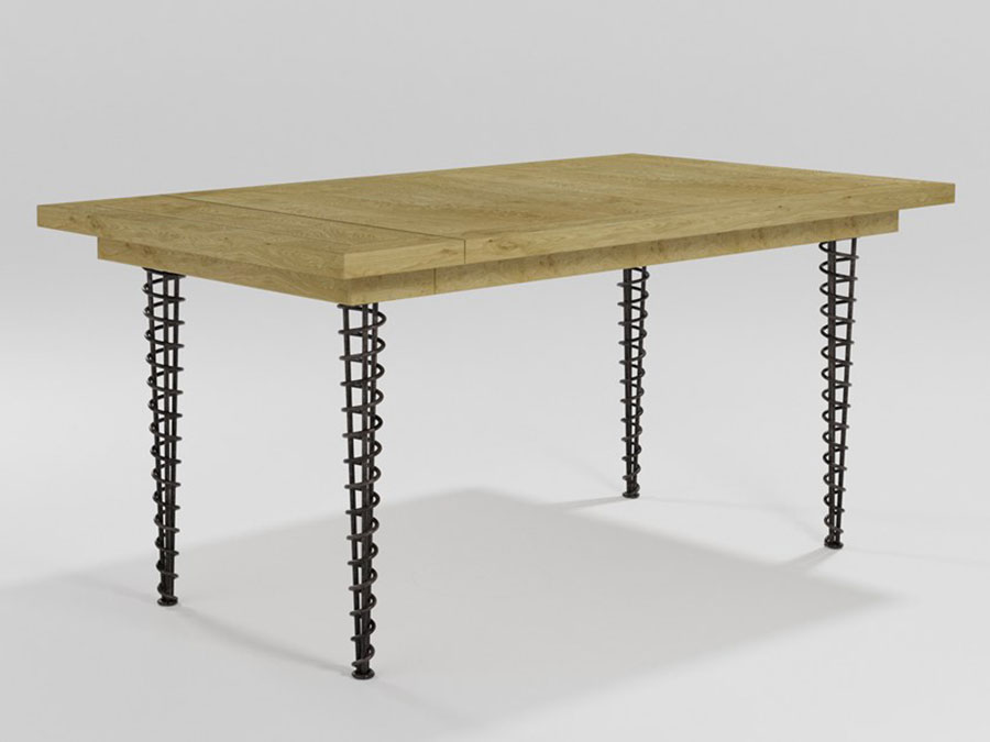 Modello di tavolo industrial Orchidea di Barel