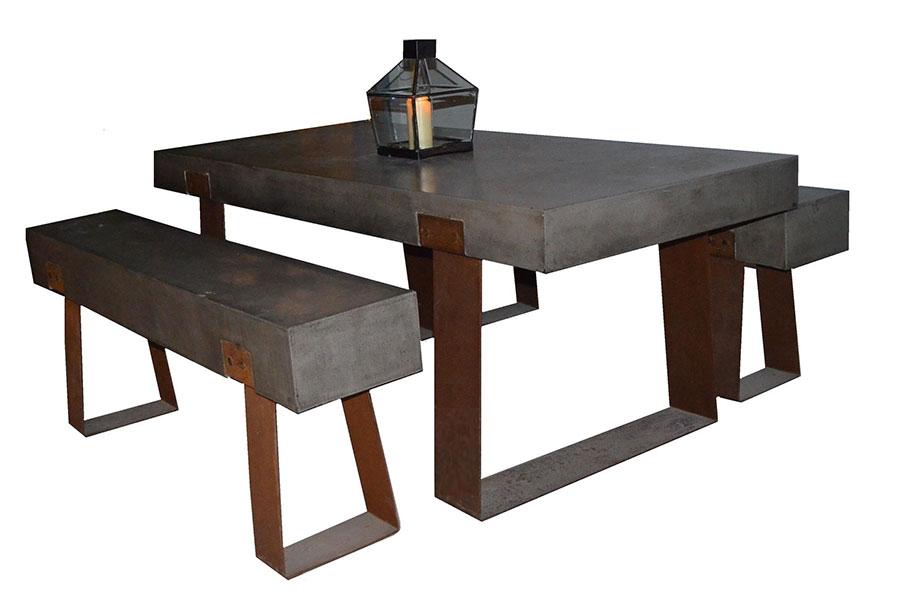 Modello di tavolo industrial GreenStone n.1