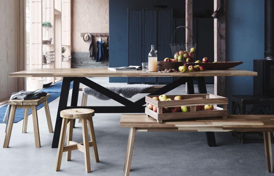 Modello di tavolo industrial Skogsta di Ikea