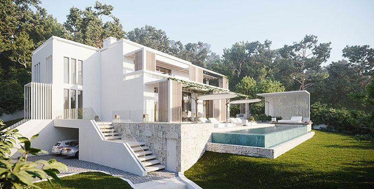 Villa da sogno con interni di lusso in legno e pietra for Arredo casa da sogno