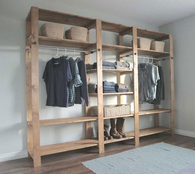 Struttura in legno per cabina armadio n.03