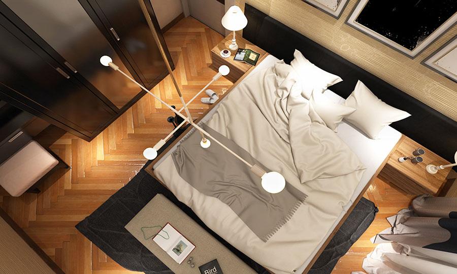 Come arredare una camera da letto piccola n.04