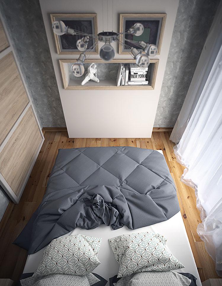 Come arredare una camera da letto piccola n.06