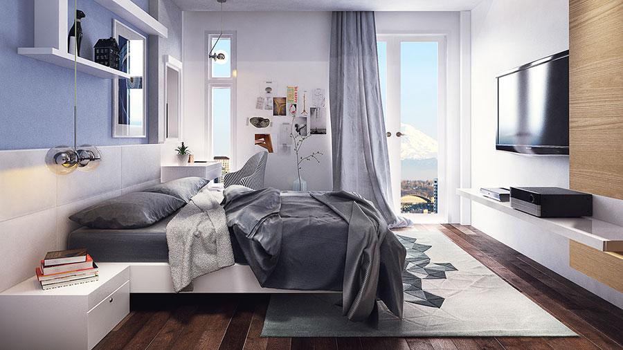 Come arredare una camera da letto piccola n.08