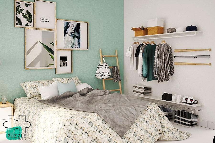 Come arredare una camera da letto piccola n.17