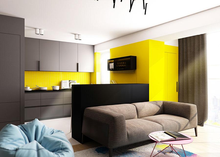 Pareti colorate di giallo n.01