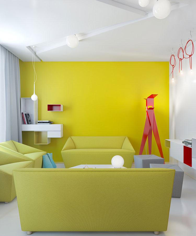 Pareti colorate di giallo n.02