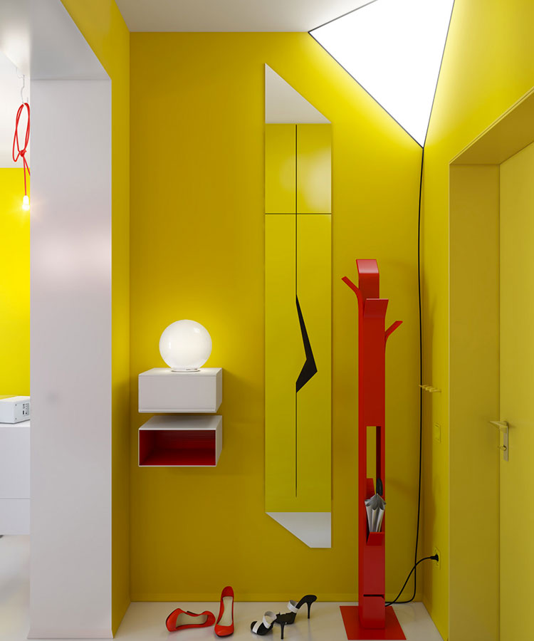 Pareti colorate di giallo n.03