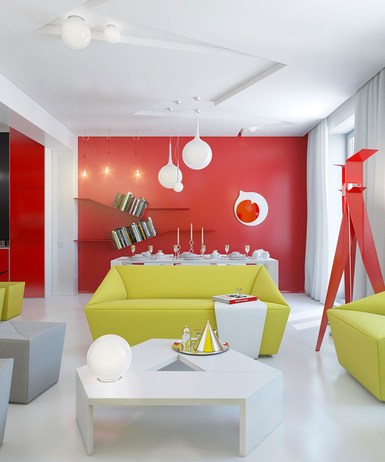Pareti colorate di rosso n.02