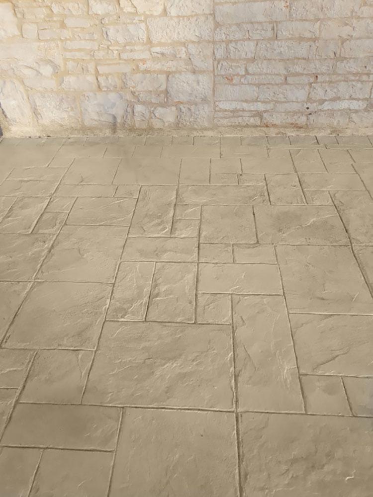 Modello di pavimento in cemento stampato n.01