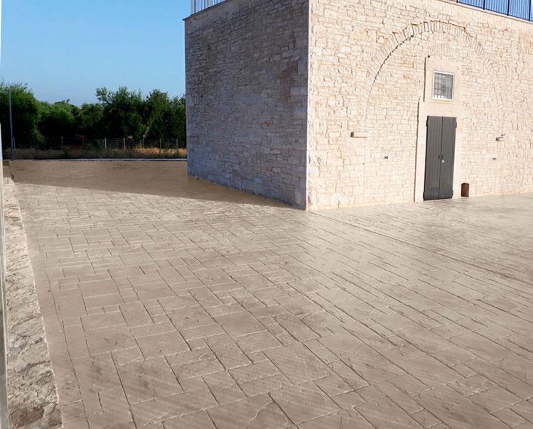 Modello di pavimento in cemento stampato n.02